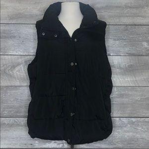 Plus Size Black Puffer Vest Size 2X
